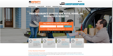 company on infinity reviews with clearsurance logo ratings side of banner car the it insurance